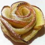 Les pétales de pommes en feuilleté