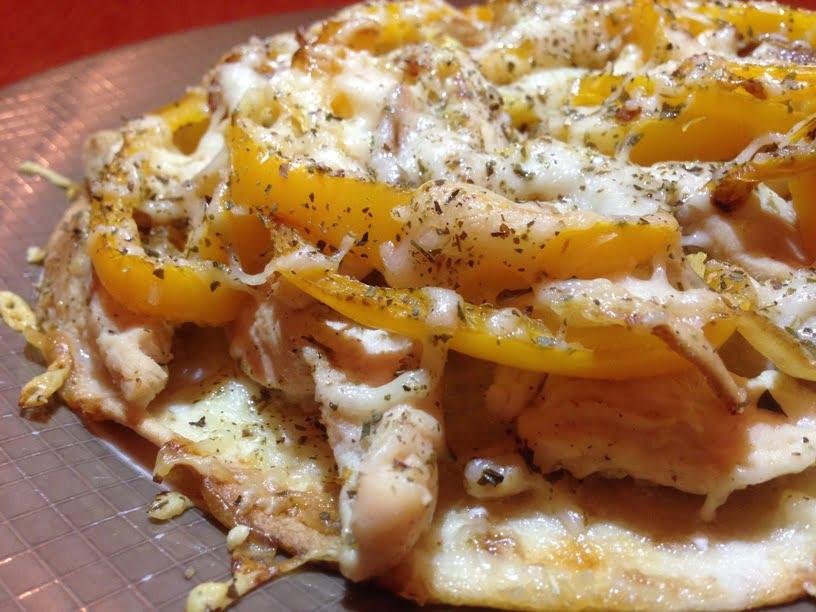 Pizza light au poulet