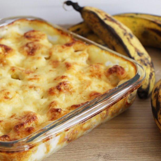 Le Gratin de Banane Plantain (ou de bananes jaunes)