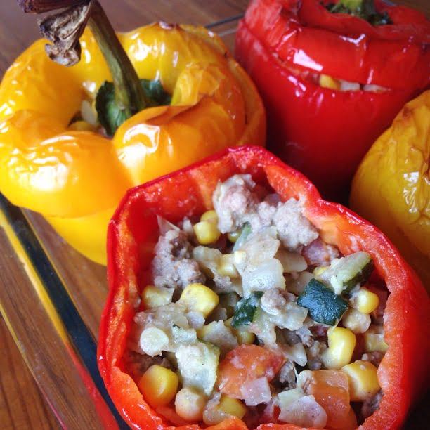 Les poivrons farcis – légers et gourmands