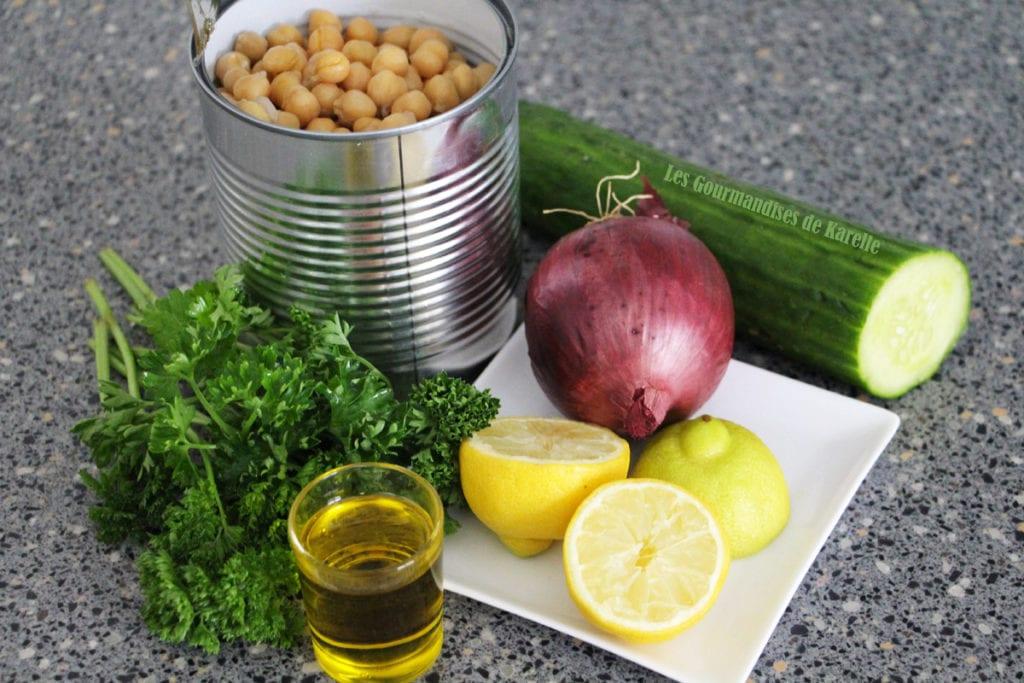 Salade de Pois Chiche Express - 1