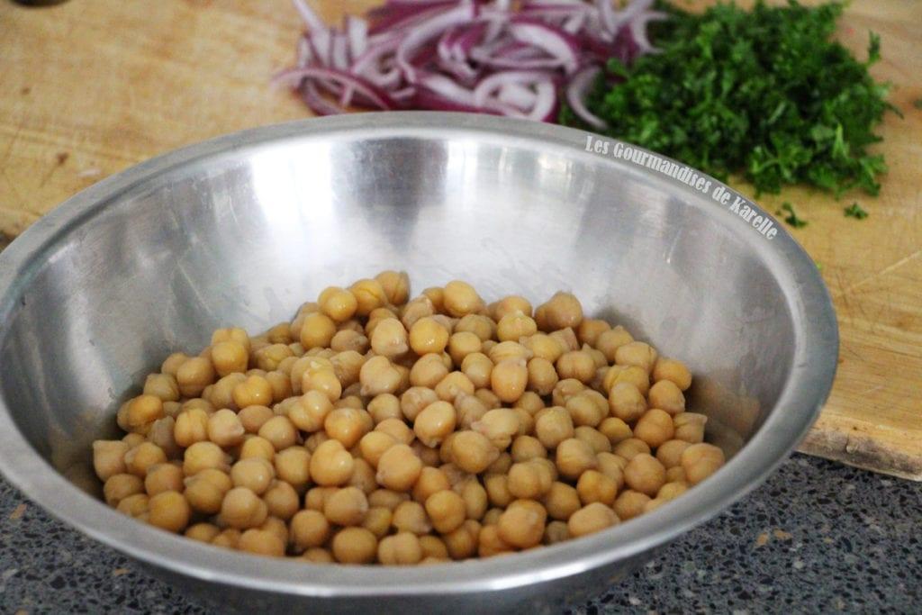 Salade de Pois Chiche Express - 3