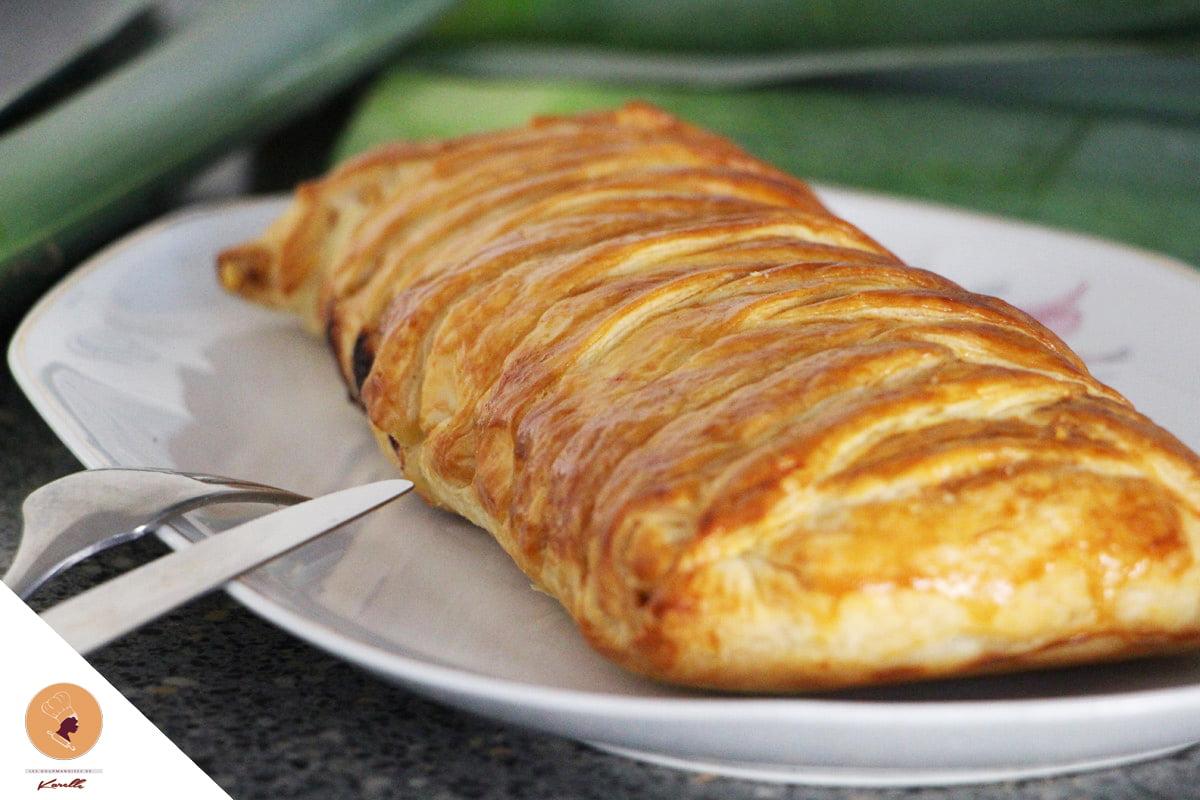 #LGDK : Tresse feuilletée (saumon/poireaux)