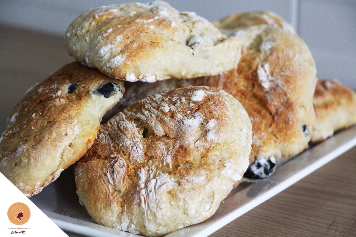 #LGDK : Petits pains aux olives (sans pétrissage!)