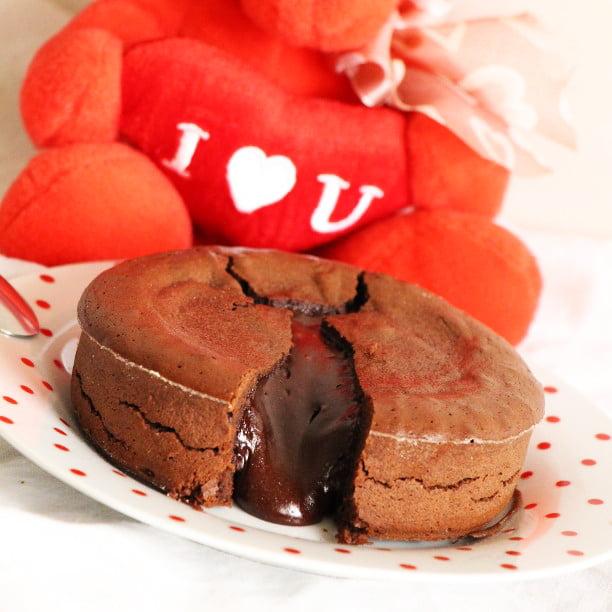 Cœur coulant au chocolat (facile et rapide!)