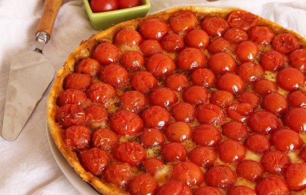 Tartes aux tomates cerises
