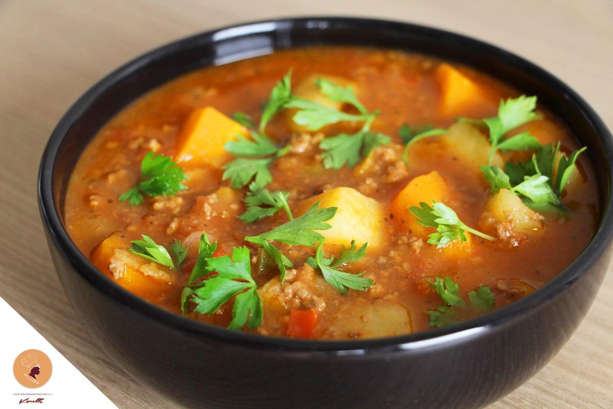 #LGDK : Soupe généreuse à la viande hachée