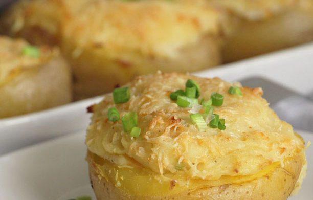 Pommes de terre farcies au saumon (ou jambon!)