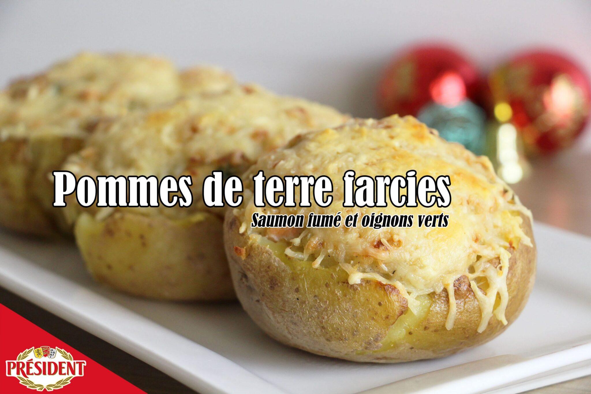 #LGDK : Pommes de terre farcies, saumon fumé et oignons verts