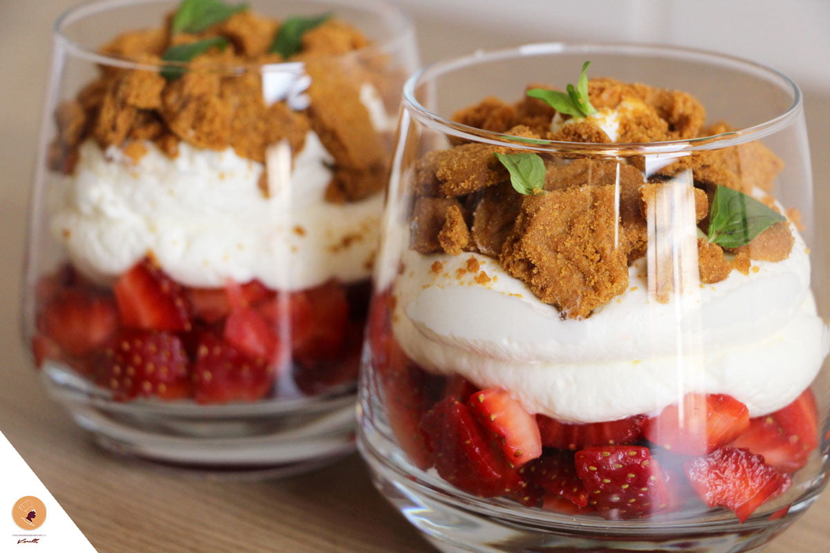#LGDK : Petites douceurs aux fraises, crème montée et speculoos