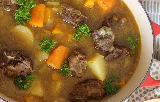 Soupe au bœuf et aux légumes