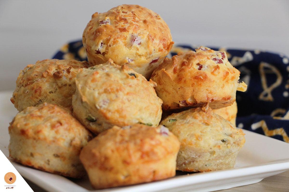 Muffins salés : Thon et Cornichons / Jambon et fromage