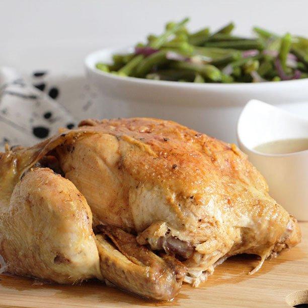 Poulet en cocotte (tendre et juteux)