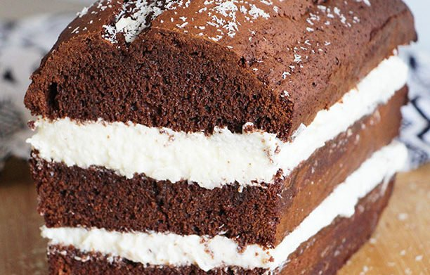 Cake au Chocolat, Crème à la Noix de Coco