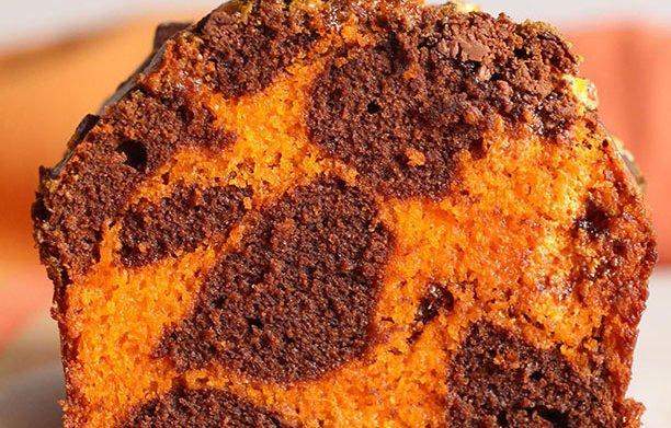 Cake marbré d'Halloween !