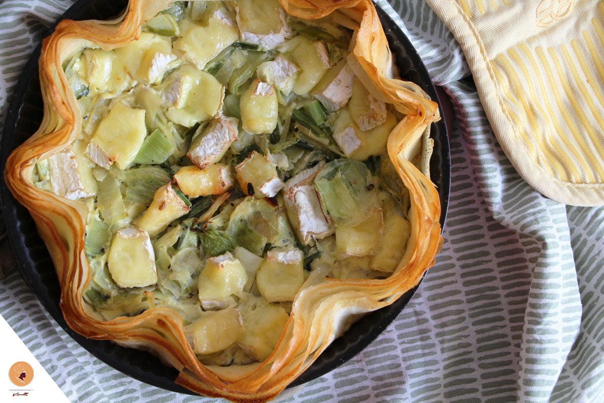 #LGDK : Quiche Poireaux & Camembert
