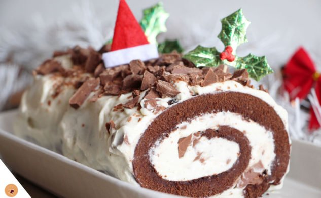 #LGDK : Bûche de Noël (Vanille & Chocolat)