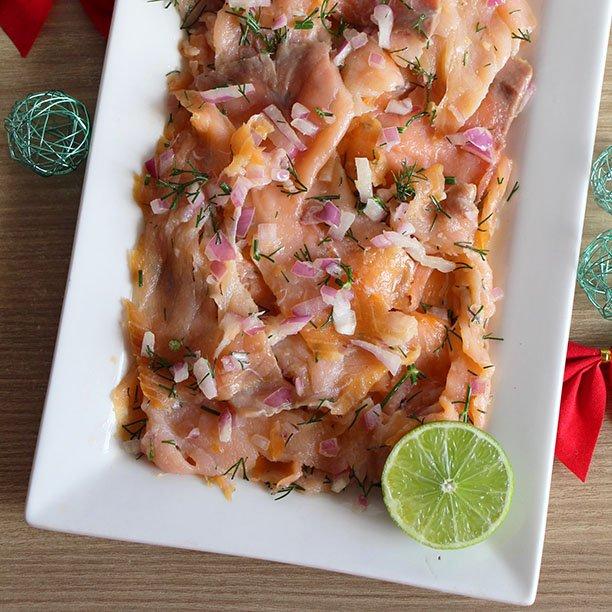 Saumon mariné (recyclage des fêtes !)