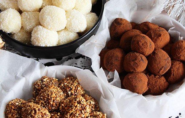 Truffes des fêtes ! Chocolat & Caramel / Chocolat blanc & noix de coco