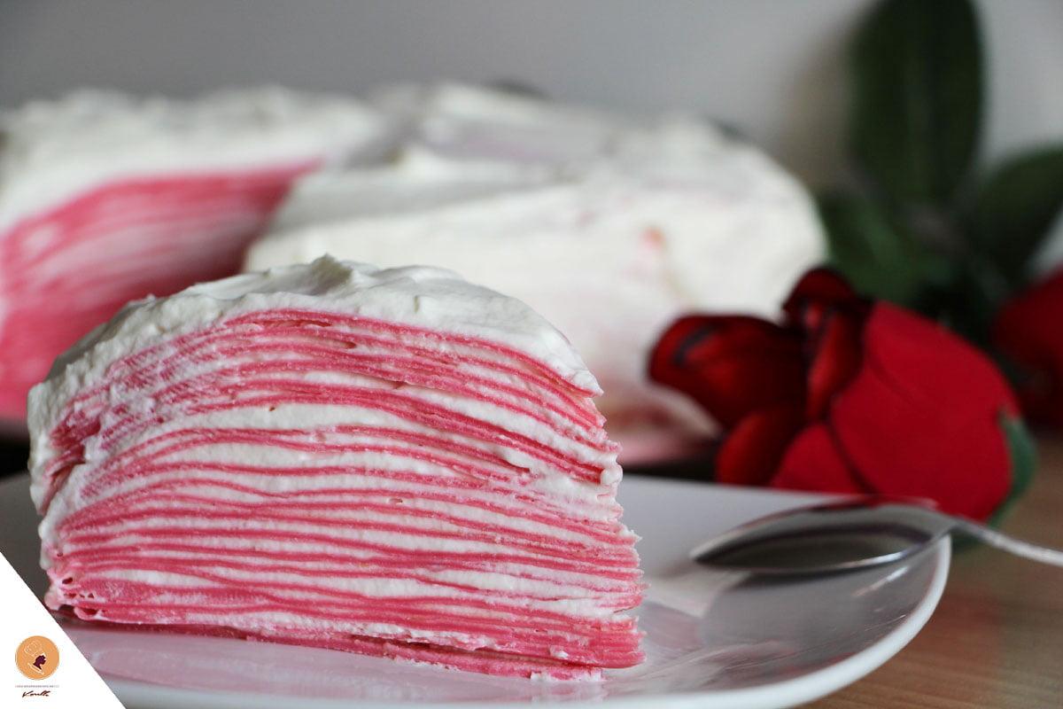 #LGDK : Gâteau de crêpes (de la Saint-Valentin !)
