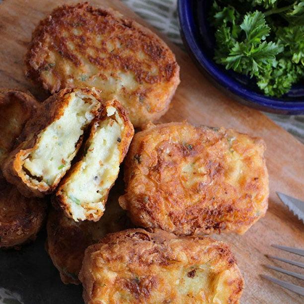 Galettes (croustillantes & fondantes) de pommes de terre
