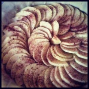 La tarte fine Pommes / Amandes