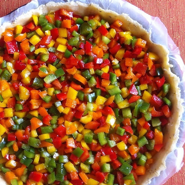"""La tarte """"Arlequin"""" ou la tarte aux quatre poivrons"""