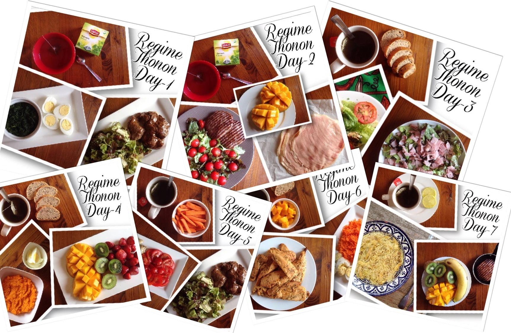 liste de nourriture de régime de 17 jours imprimable